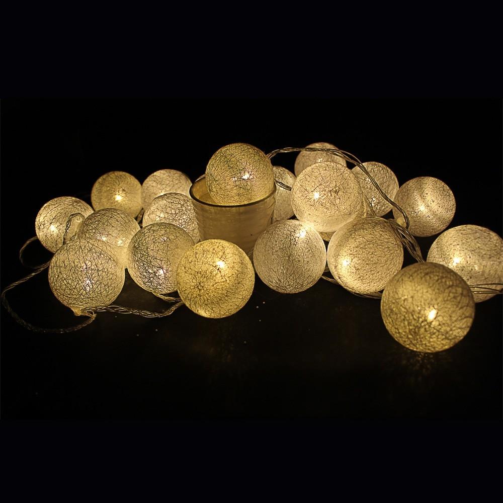 20 medvilninių burbulų LED girlianda 220V