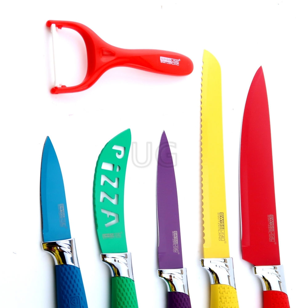 6 dalių peilių rinkinys 5SW | Virtuviniai peiliai
