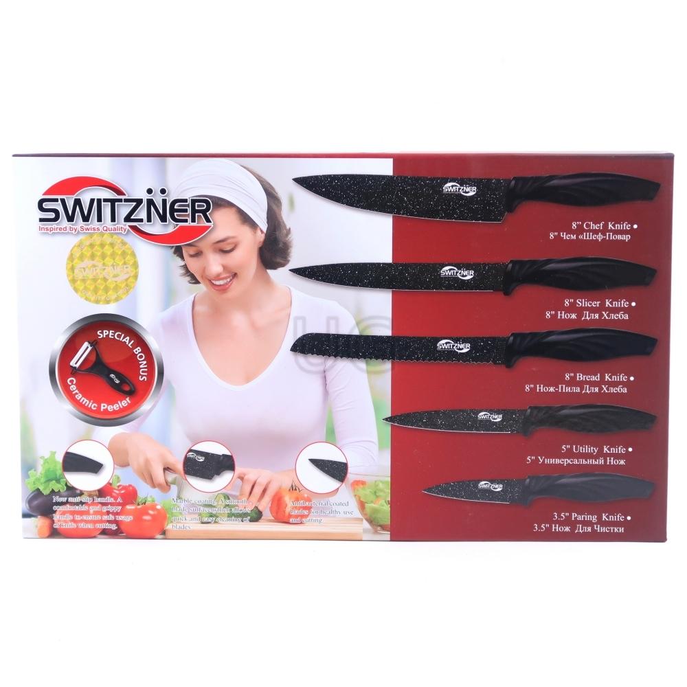 6 dalių peilių rinkinys 1829SW | Virtuviniai peiliai