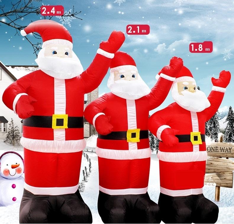 Pripučiamas Kalėdų senelis 210 cm