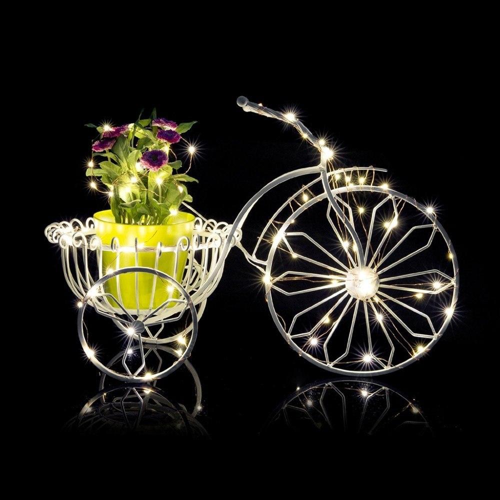 Kalėdinė LED girlianda su baterijomis 50 lempučių ir pultelis
