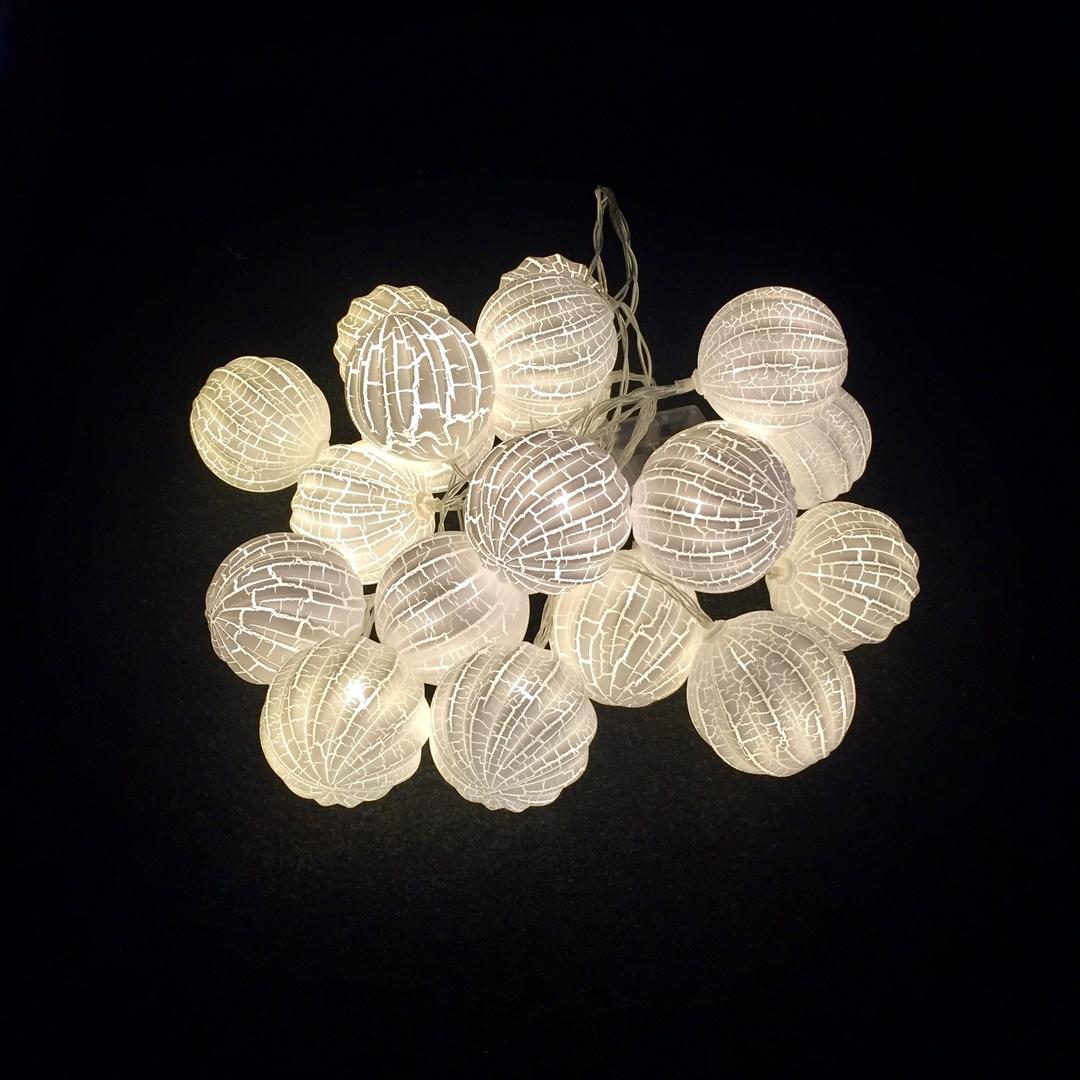 20 dekoravimo burbulu | LED girlianda su baterijomis