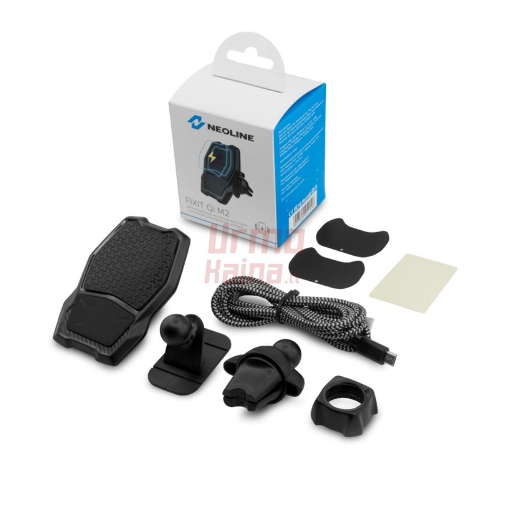 Belaidis, magnetinis telefono laikiklis-kroviklis | Neoline Fixit Qi M2