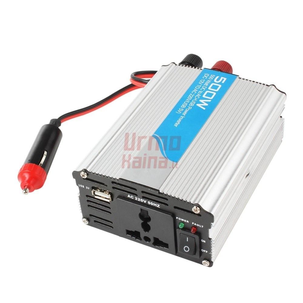 Inverteris DC12V/24V į AC220V 500W